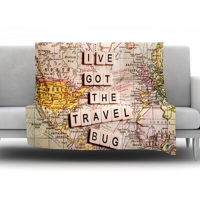 Travel Bug by Sylvia Cook Fleece Throw Blanket Size: 80 H x 60 W x 1 D