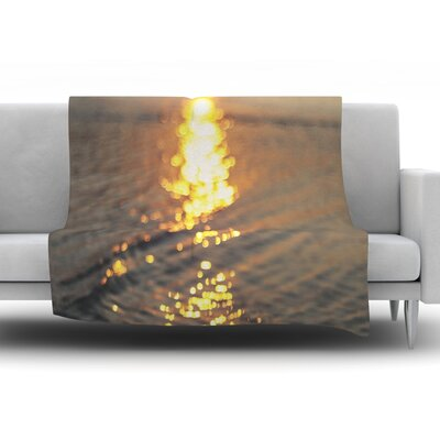 Still Waters by Libertad Leal Fleece Throw Blanket Size: 90 H x 90 W x 1 D