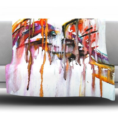 Cascade Fleece Throw Blanket Size: 90 L x 90 W