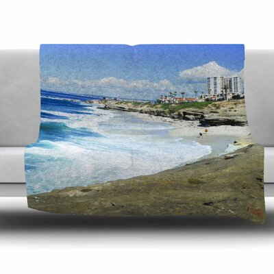 Beach Playground Fleece Throw Blanket Size: 40 L x 30 W