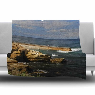 Ocean Jetty Fleece Throw Blanket Size: 80 L x 60 W