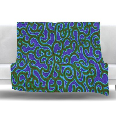 Swirling Vines Fleece Throw Blanket Size: 60 L x 50 W