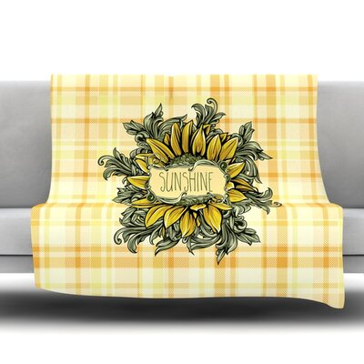 Sunflower Sunshine Fleece Throw Blanket Size: 40 L x 30 W