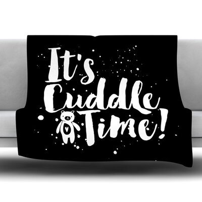 Cuddle Time Fleece Throw Blanket Size: 40 L x 30 W