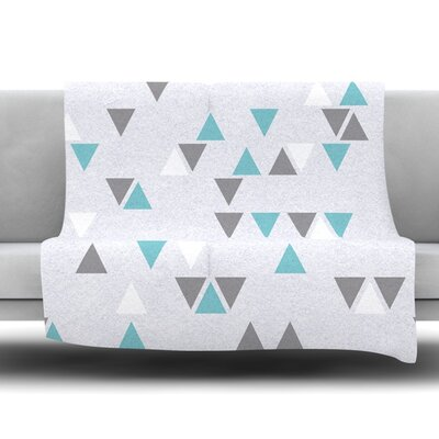 Triangle Love II Fleece Throw Blanket Size: 40 L x 30 W