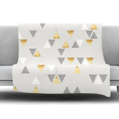Triangle Love Fleece Throw Blanket Size: 40 L x 30 W