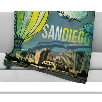 San Diego Throw Blanket Size: 40 L x 30 W