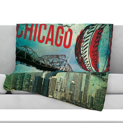 Chicago Throw Blanket Size: 90 L x 90 W