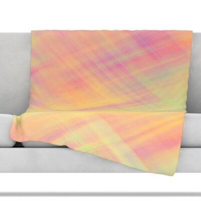 Pastel Abstract Throw Blanket Size: 80 L x 60 W