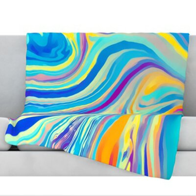 Rainbow Swirl Throw Blanket Size: 40 L x 30 W