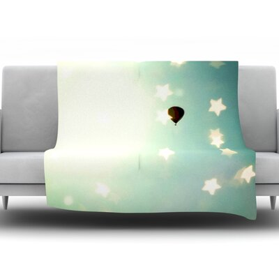 Amongst The Stars by Robin Dickinson Fleece Throw Blanket Size: 40 H x 30 W x 1 D