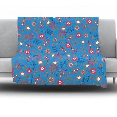 Meadow by Michelle Drew Fleece Throw Blanket Size: 80 H x 60 W x 1 D