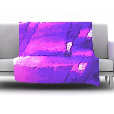Suenos en Purpura by Oriana Cordero Fleece Throw Blanket Size: 60 H x 50 W x 1 D