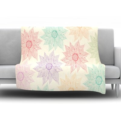 Spring Florals by Pom Graphic Design Fleece Throw Blanket Size: 60 H x 50 W x 1 D