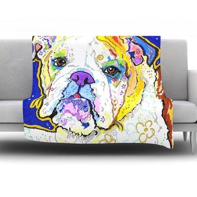Mavis by Rebecca Fischer Fleece Throw Blanket Size: 40 H x 30 W x 1 D