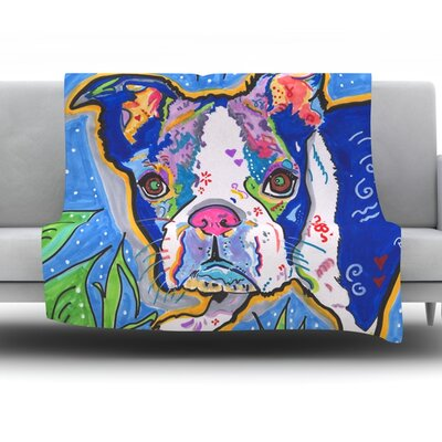 Addy Mae by Rebecca Fischer Fleece Throw Blanket Size: 60 H x 50 W x 1 D