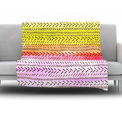 Sunshine by Sreetama Ray Fleece Throw Blanket SR1013AFB02