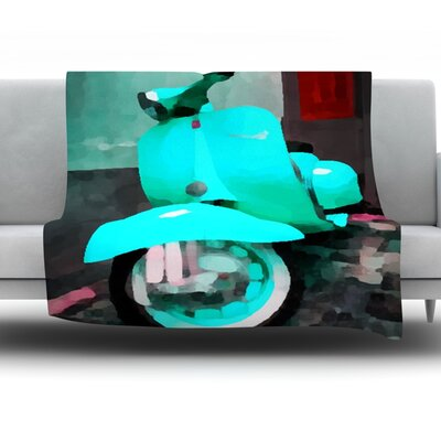Vespa I by Oriana Cordero Fleece Throw Blanket Size: 40 H x 30 W x 1 D