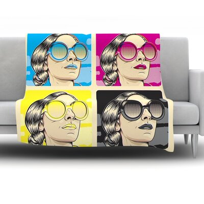 CMYK Fashion by Roberlan Fleece Throw Blanket Size: 40 H x 30 W x 1 D