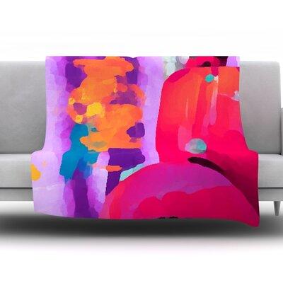 Vespa II by Oriana Cordero Fleece Throw Blanket Size: 80 H x 60 W x 1 D