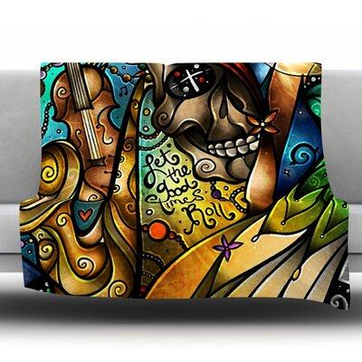 Good Times Roll by Mandie Manzano Fleece Throw Blanket Size: 80 H x 60 W x 1 D