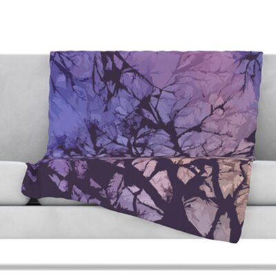 Skies Throw Blanket Size: 80 L x 60 W, Color: Violet