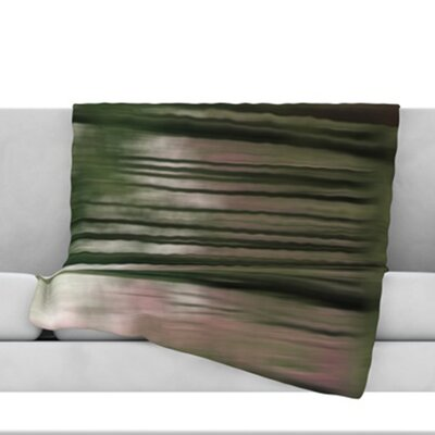 Forest Blur Throw Blanket Size: 80 L x 60 W
