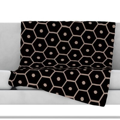 Tiled Mono Throw Blanket Size: 40 L x 30 W