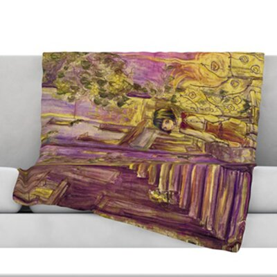 Down The Alleyway Microfiber Fleece Throw Blanket Size: 60 L x 50 W