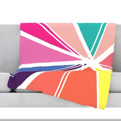 Boldly Bright Throw Blanket Size: 60 L x 50 W