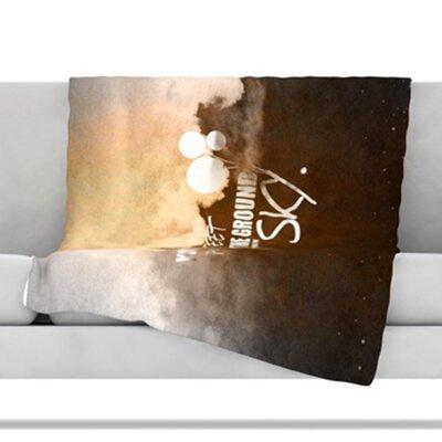 Touch The Sky Fleece Throw Blanket Size: 40 L x 30 W