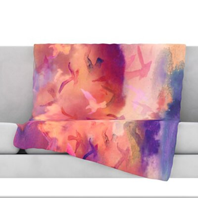 Souffle Sky Fleece Throw Blanket Size: 80 L x 60 W