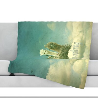 Never Stop Exploring Fleece Throw Blanket Size: 80 L x 60 W