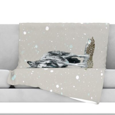 Wolf Fleece Throw Blanket Size: 60 L x 50 W