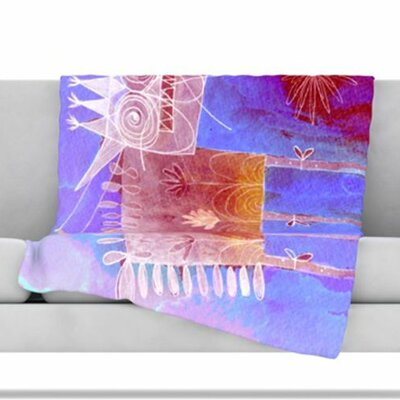 Scary Song about Love Fleece Throw Blanket Size: 80 L x 60 W