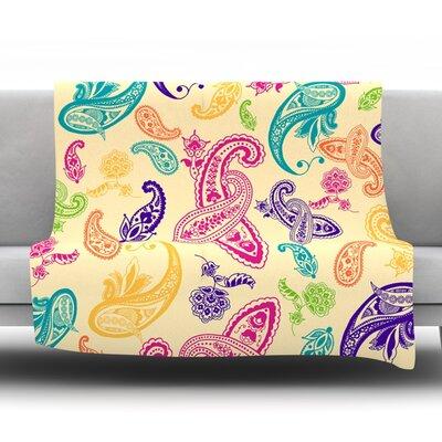 Namaste by Emine Ortega Fleece Throw Blanket Size: 80