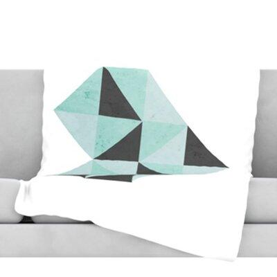 Geo Heart FleeceThrow Blanket Size: 80 L x 60 W, Color: Blue