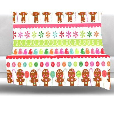 Gumdrop Buttons Fleece Throw Blanket Size: 80'' L x 60'' W