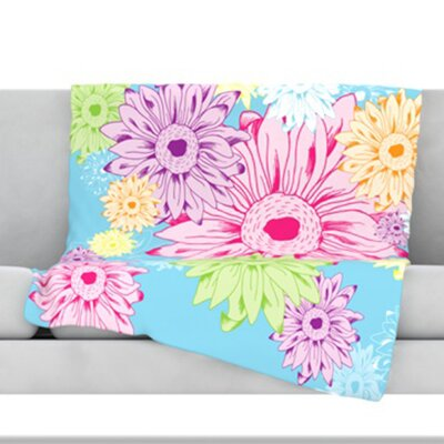 Summer Time Fleece Throw Blanket Size: 80 L x 60 W