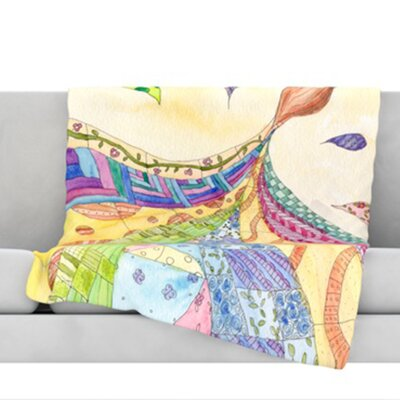 The Painted Quilt Throw Blanket Size: 40 L x 30 W