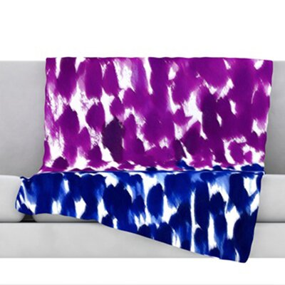 Fleeting Throw Blanket Color: Blue, Size: 60 L x 50 W