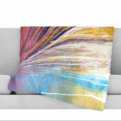 Sway Fleece Throw Blanket Size: 80 L x 60 W
