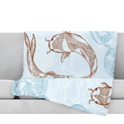 Koi Fleece Throw Blanket Size: 80 L x 60 W