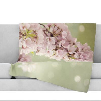 Blossom Throw Blanket Size: 80 L x 60 W