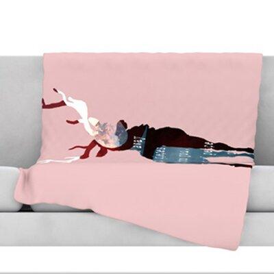 Oh Deer Fleece Throw Blanket Size: 40 L x 30 W