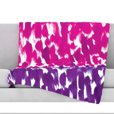 Fleeting Throw Blanket Size: 60 L x 50 W, Color: Purple