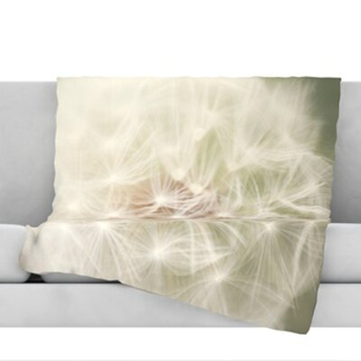 Dandelion Throw Blanket Size: 80 L x 60 W