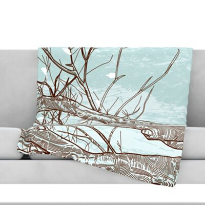 Winter Trees Fleece Throw Blanket Size: 40 L x 30 W