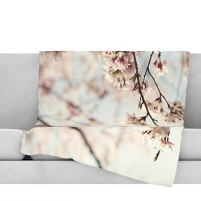 Japanese Blossom Throw Blanket Size: 60 L x 50 W