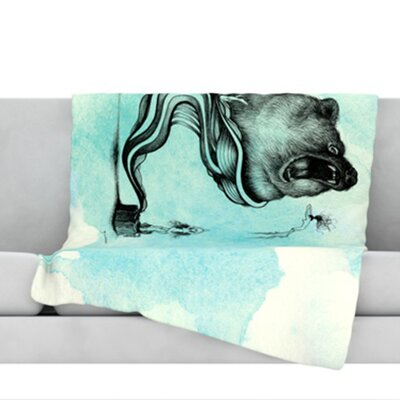 Hot Tub Hunter III Throw Blanket Size: 40 L x 30 W